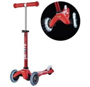 Micro Scooters Micro Mini Deluxe Kinderstep LED Red