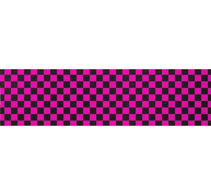 Enuff Skateboard Griptape Chequered Roze