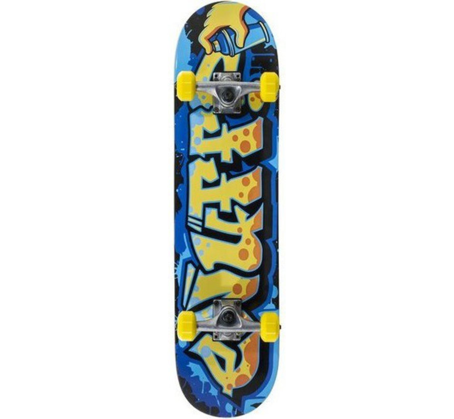Enuff Graffiti 7.25 Mini Skateboard Blauw-Geel