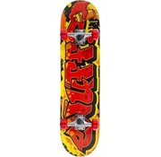 Enuff Skateboards Enuff Graffiti 7.25 Mini Skateboard Rood-Geel