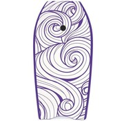 Yello Yello Slick Swirls 41'' Bodyboard Paars