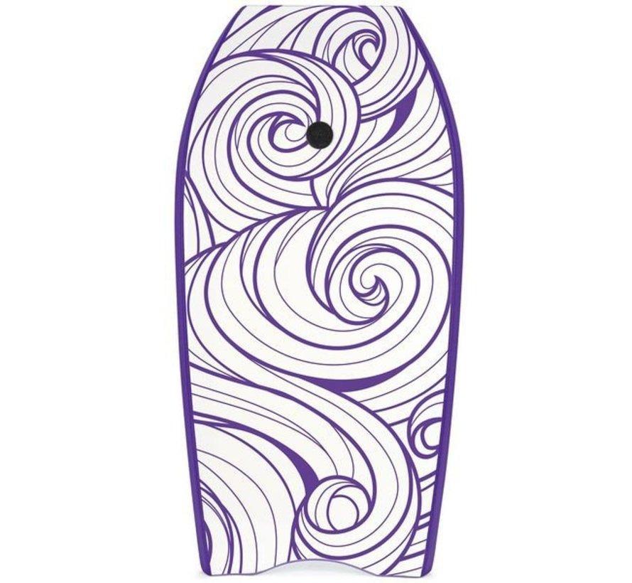 Yello Slick Swirls 41'' Bodyboard Paars