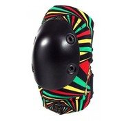 Smith Set van twee elleboogbeschermers maat Adult S/MåÊvan Smith Safety Gear met toffe rasta print.