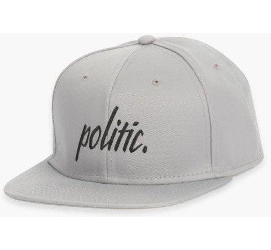 Politic Script Snapback Grey