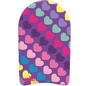 Yello Yello Hearts 18'' Kickboard