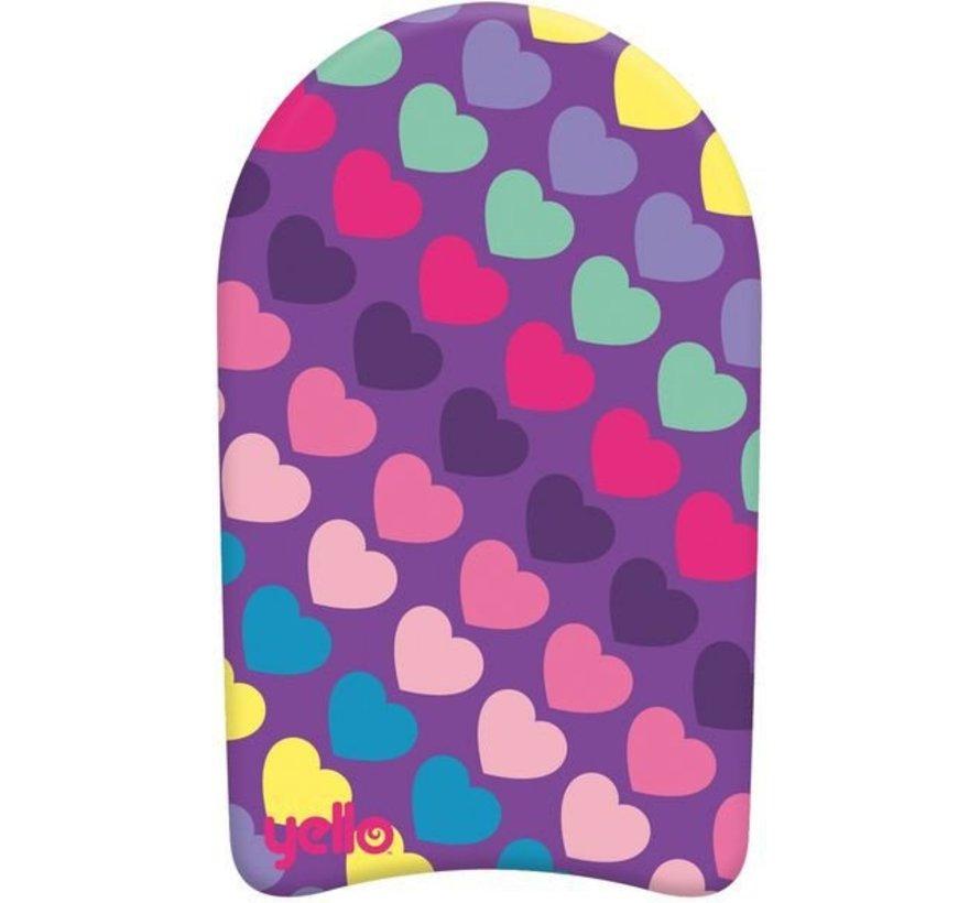 Yello Hearts 18'' Kickboard