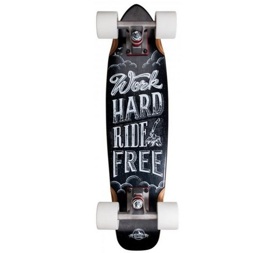 D-Street Ride Free 23'' Cruiser Skateboard
