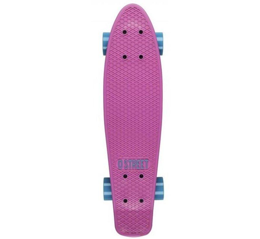 D-Street 23'' Penny Board Pink-Blue