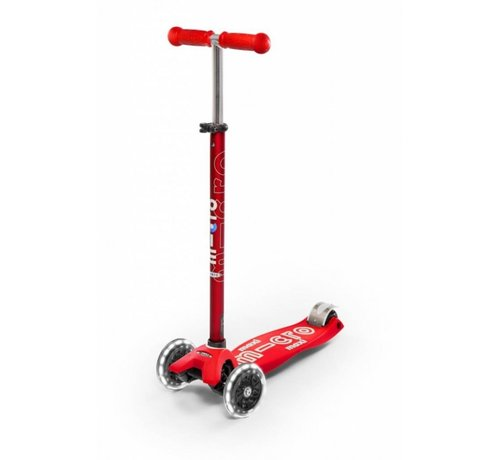 Micro Scooters Micro Maxi Deluxe Led Kinderstep Red