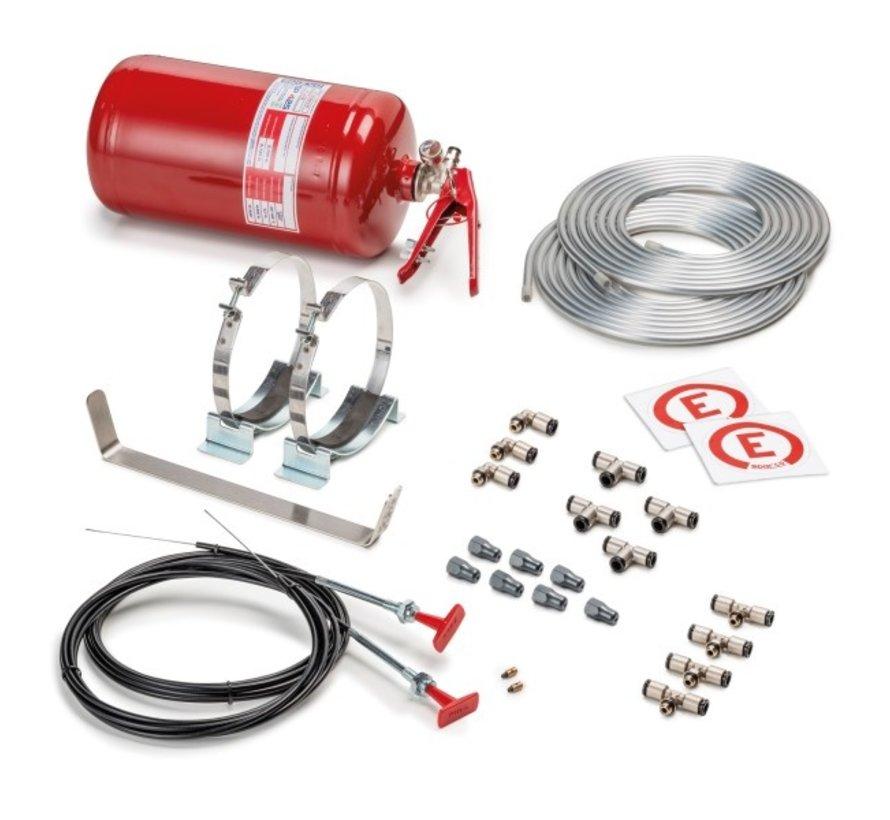 Sparco brandblussysteem ,25 liter • stalen bak | Brandblussysteem voor sport-, toer- en rallyauto's