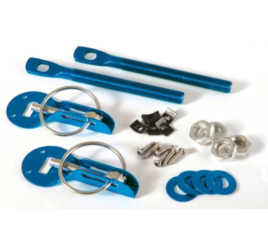 Motorkapsluiting aluminium blauw