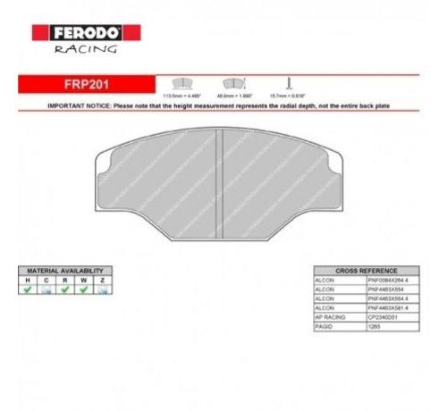 FERODO RACING FRP201R REMBLOKKEN DS3000 COMPOUND