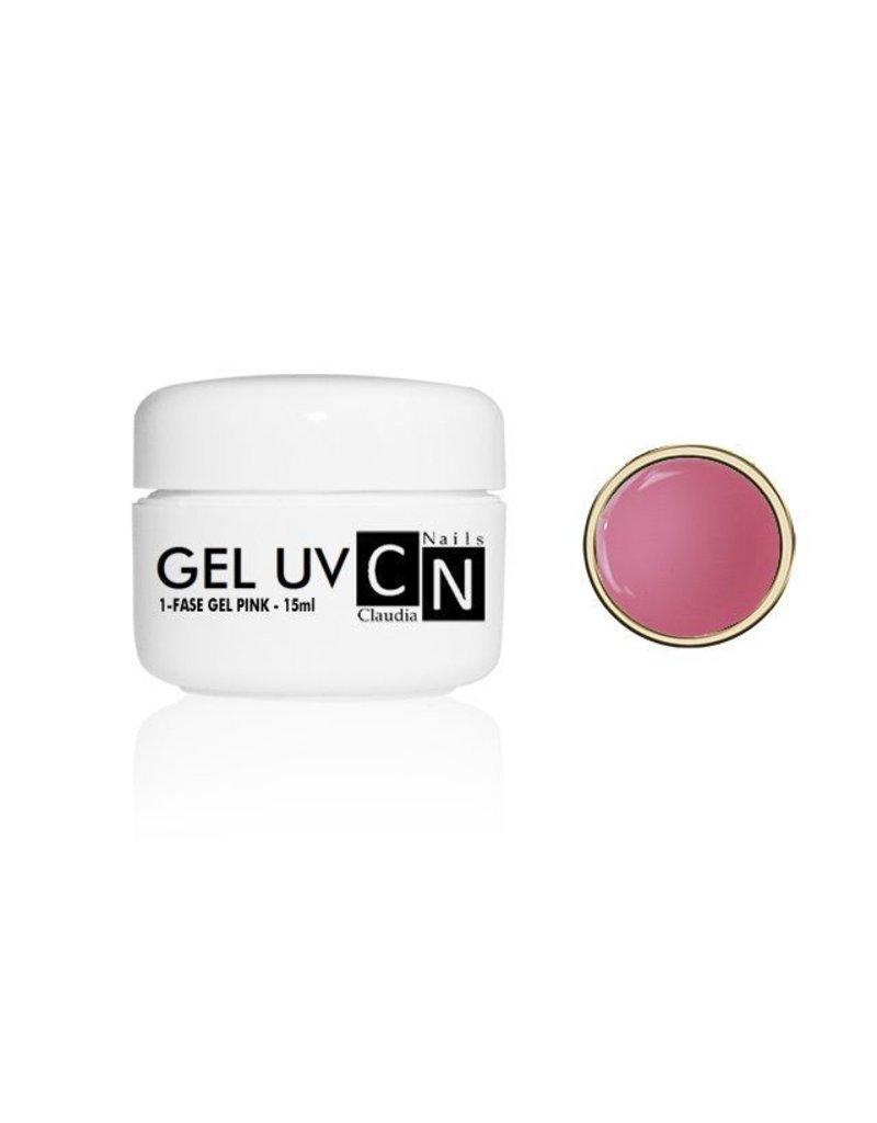 ClaudiaNails 1-fase gel roze 15 ml