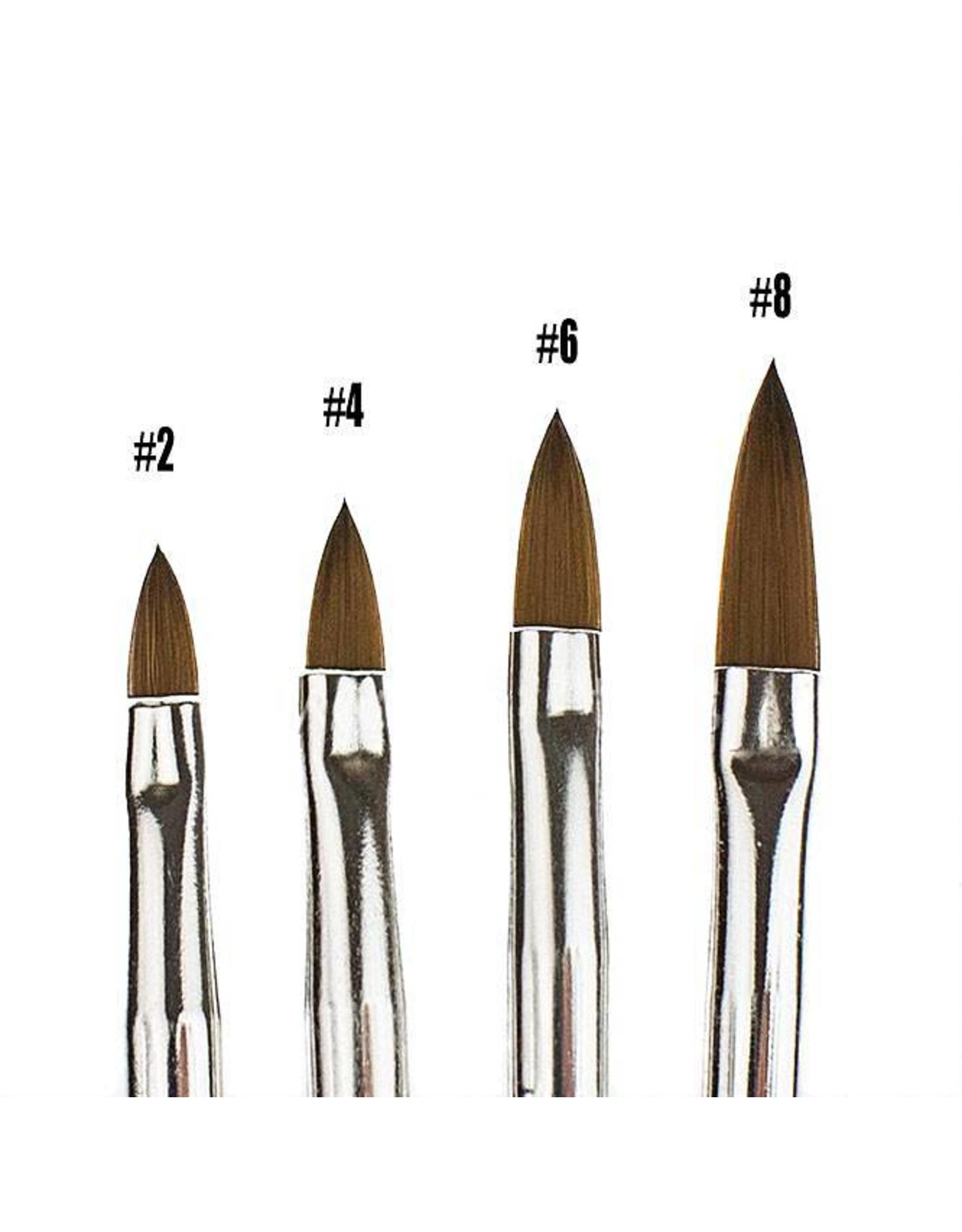 Merkloos Acryl penseel  Zwart nr. 4