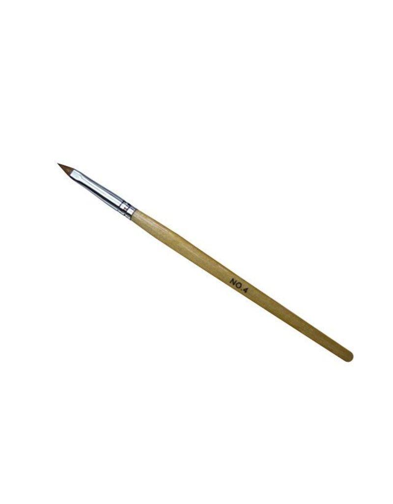 Merkloos Acryl penseel nr. 4