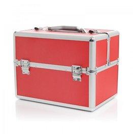 Merkloos Aluminium luxe koffer - rood