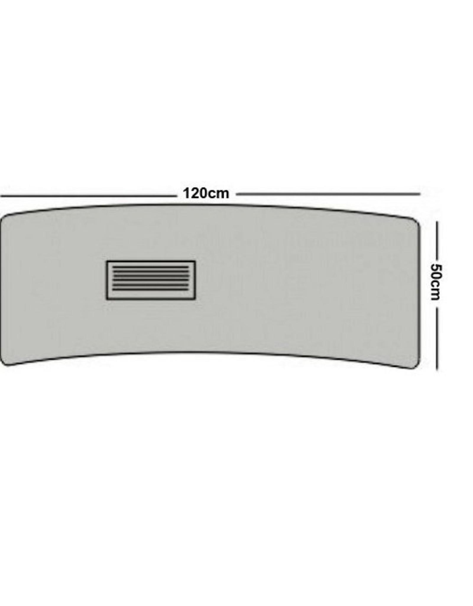 Merkloos Luxe Glass / metaal manicuretafel met afzuiging