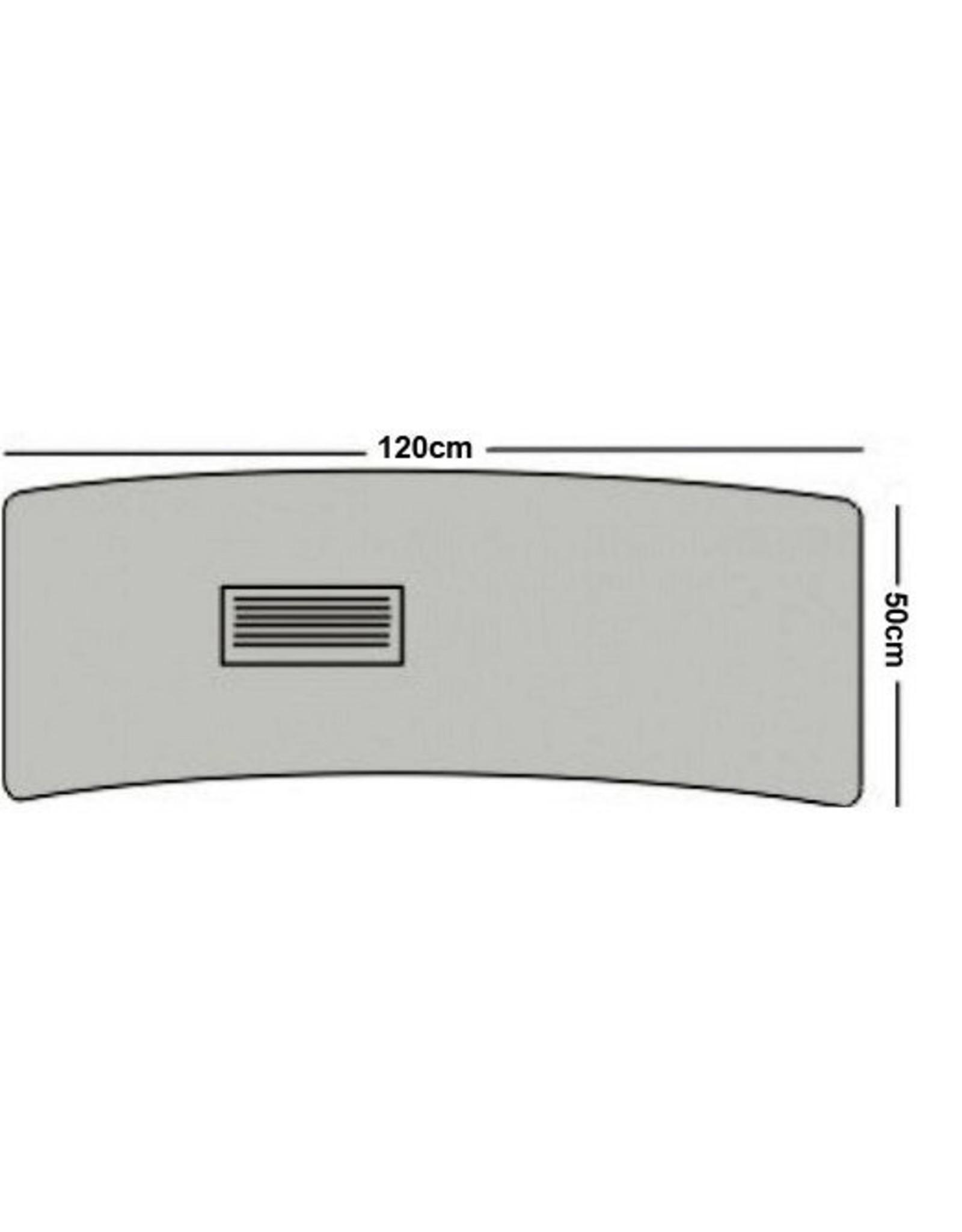 Merkloos Luxe Glass / metaal manicuretafel zonder afzuiging