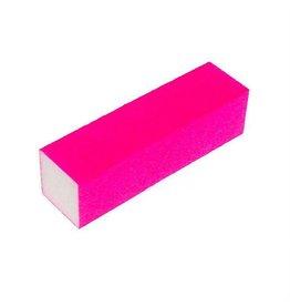 Merkloos Nagel polijstblok Neon Pink