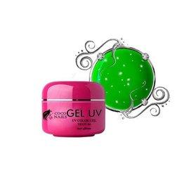 Coconails Neon uv gel met glitter Groen (nr. 04)