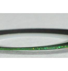 Merkloos Striping Tape Groen Glitter