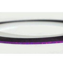 Merkloos Striping Tape Paars Glitter