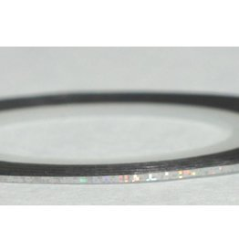 Merkloos Striping Tape Zilver Glitter