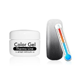 ClaudiaNails Thermo uv gel Antraciet/Wit glitter 5 ml (16)