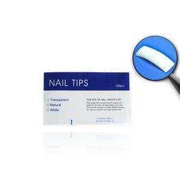 Merkloos Tips natural tipbox 100 stuks met kort opzetstuk