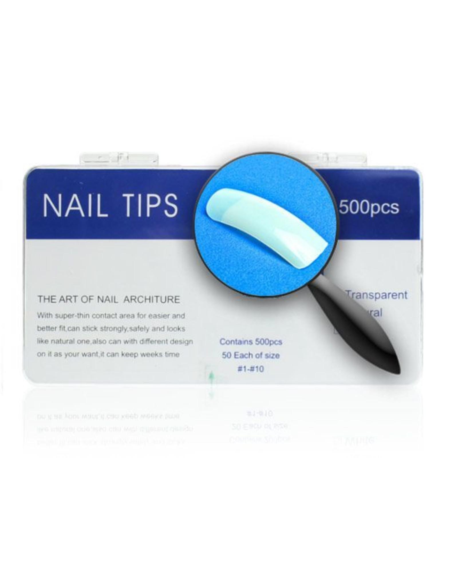 Merkloos Tips naturel tipbox 500 stuks
