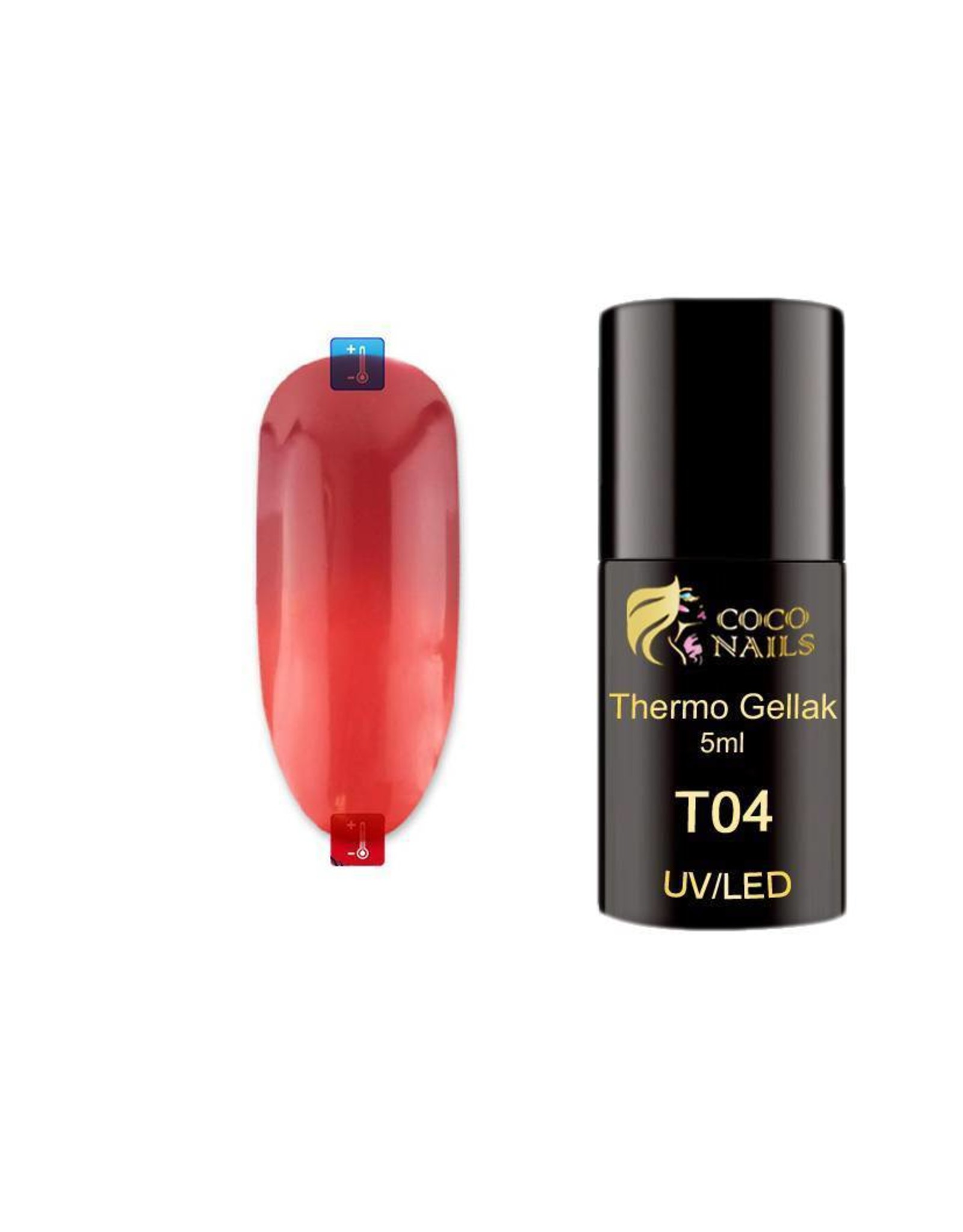 Coconails Thermo gellak Donker Rood/Rood 5 ml