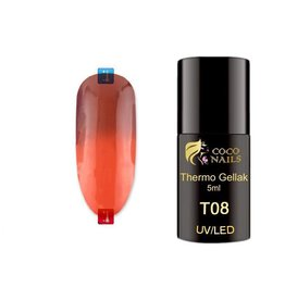 Coconails Thermo gellak Donker Rood/Rood 5 ml (T08)