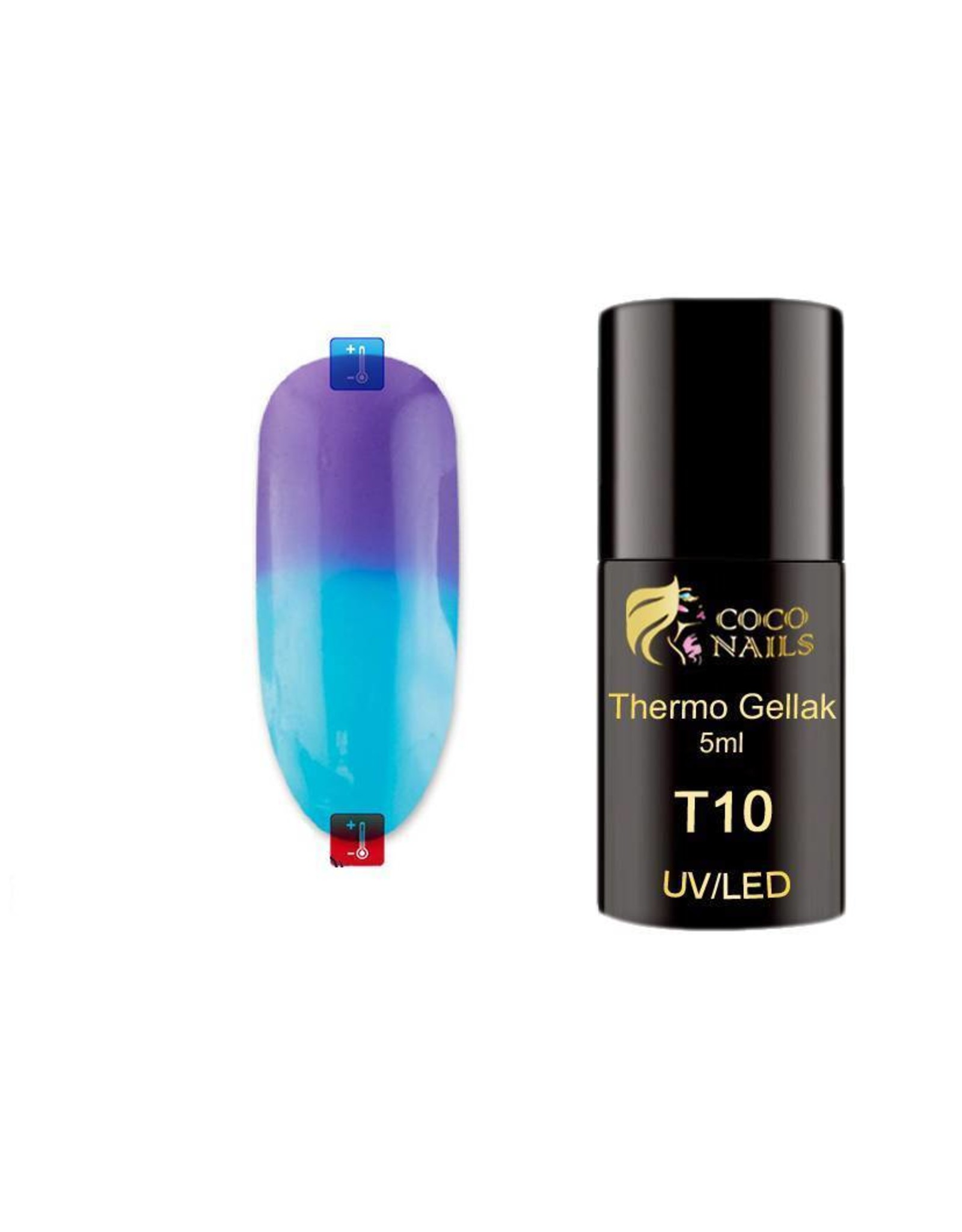 Coconails Thermo gellak Paars/Blauw 5 ml