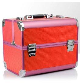 Merkloos Koffer Roze/Oranje