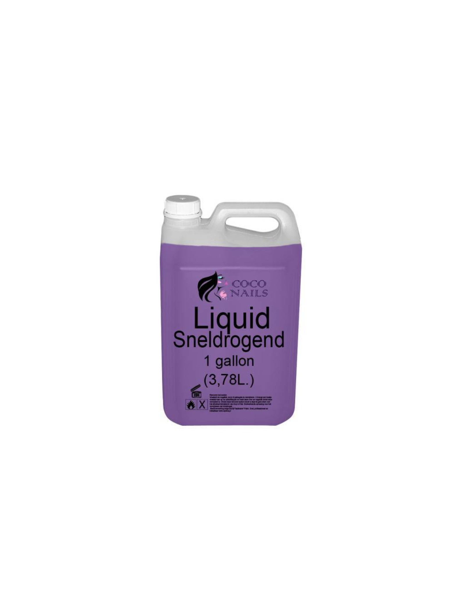 Coconails Acryl vloeistof (Liquid) Sneldrogend paars PRO 1 Gallon (3,78L)