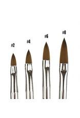 Merkloos Acryl penseel Zwart nr. 8