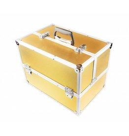 Merkloos Aluminium koffer - gold