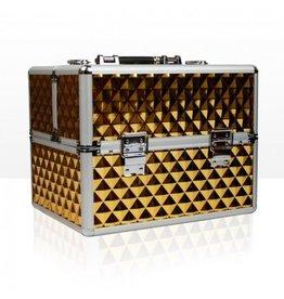 Merkloos Aluminium koffer 3D Gold