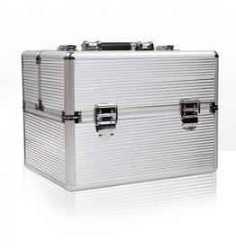 Merkloos Beautycase met opbergvakken Zilver