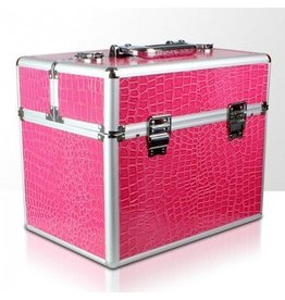 Merkloos Beautycase Roze croco