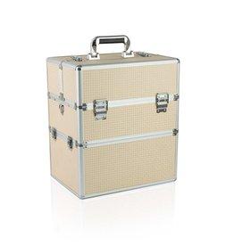 Merkloos Koffer groot Beige