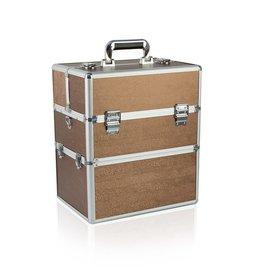 Merkloos Koffer groot Bruin