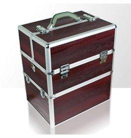 Merkloos Koffer groot Slang Kastanjebruin