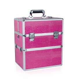 Merkloos Koffer groot Slang Roze