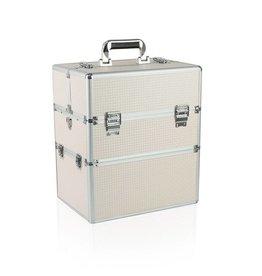 Merkloos Koffer groot Zalm Wit