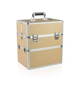 Merkloos Koffer groot Gold