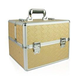 Merkloos Aluminium koffer met opbergvakken Rechthoek Goud