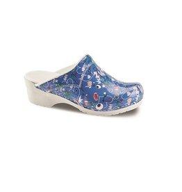 Sanita® Sanita Flex klompen, 314, ShoutOut blauw open