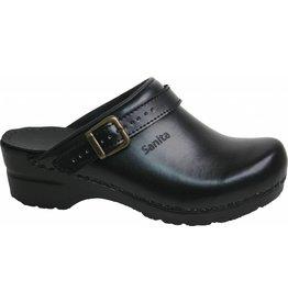 Sanita® Sanita Flex klompen, 38, zwart, open met riempje