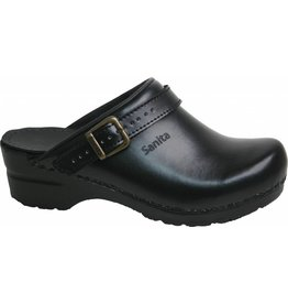 Sanita® Sanita Flex klompen, zwart, open met riempje